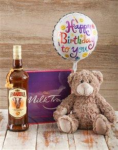 gifts: Birthday Teddy and Amarula Liqueur!