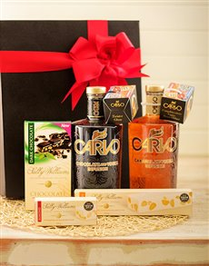 Gifts and Hampers - All Gifts: Carvo Vodka Duo with Sally Williams Nougat!