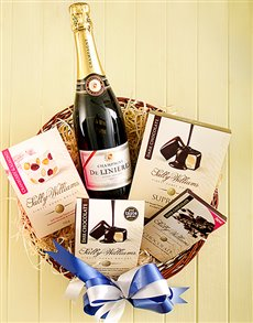 Gifts and Hampers - All Gifts: Champagne and Sally Williams Hamper!