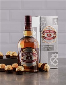 gifts: 12 Year Old Chivas Regal and Ferrero Rocher!