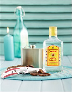gifts: Gordons London Dry Gin and Hip Flask Gift!