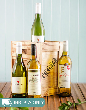 gifts: Four Bottles Of White Wine in a Crate!