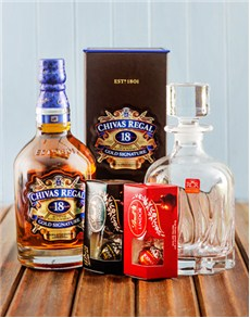 Gifts and Hampers - All Gifts: Chivas Regal Scotch Whisky and Lindt Chocolate!