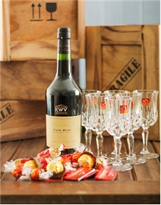 gifts: KWV Liqueur Wine and Delicious Chocolates!