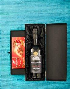 gifts: Allesverloren Port and Cote Dor Bouchee Chocolates!