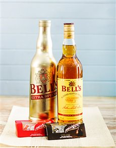 gifts: Bells Whiskey Extra Special and Lindt Hamper!