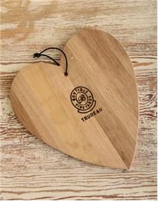 gifts: Heart Shaped Trudeau Board 38cm x 32cm!