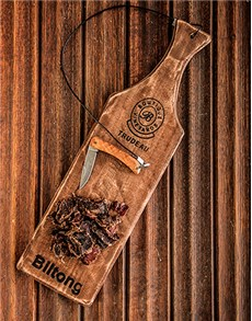 gifts: Trudeau Biltong Board with Biltong Pieces!