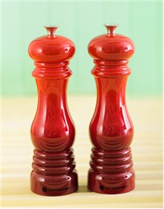 gifts: Le Creuset Salt and Pepper Mills    Cherry!