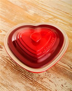 gifts: Le Creuset Deep Heart Dish!