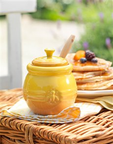 gifts: Le Creuset Honey Pot with Honey!