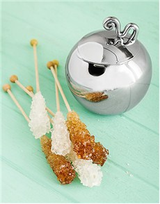 Gifts and Hampers - All Gifts: Carrol Boyes Sugar Bowl & Lid - Wave & Sugar Stick!