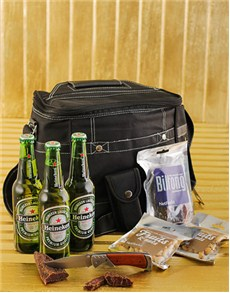 gifts: Heineken Pack with Snacks and Cooler Bag!