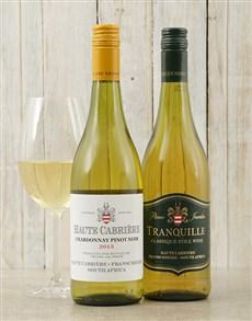 gifts: Haute Cabriere Chardonnay and Pierre Jourdan Tranq!
