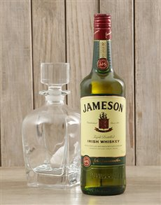 gifts: Jameson Whiskey & Crystal Decanter!
