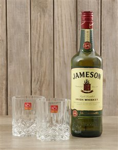 gifts: Jameson Whiskey & Crystal Glasses!