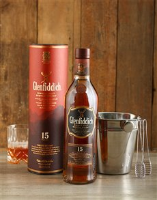 gifts: Glenfiddich 15 Year with Ice Bucket!