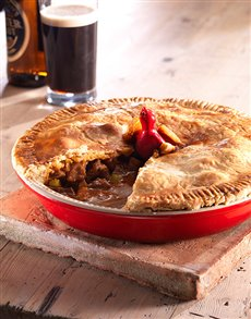 gifts: Le Creuset Pie Dish with Pie Bird!
