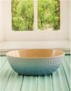 gifts: Le Creuset Coastal Blue Pasta Bowl!