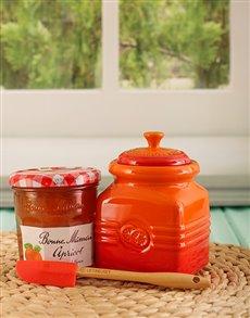 gifts: Le Creuset Flame Marmalade Jar !