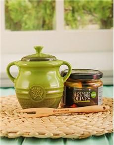 gifts: Le Creuset Olive Jar !