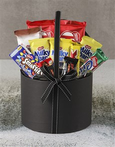 flowers: Large Chocolate Filled Hatbox!