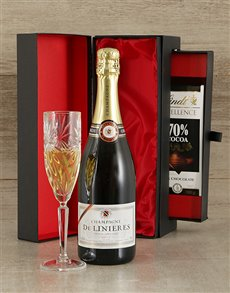 gifts: Luxury Brut Champagne & Chocolate Gift Set!