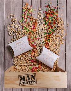 gifts: Man Crate Consisting of a Variety of Nuts!