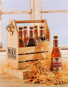 gifts: Six Pack of Castle Beer in a Crate!
