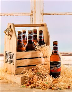 gifts: Carling Black Label 4 pack in a Man Crate!