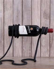 gifts: Twisted Rope Wine Rack!