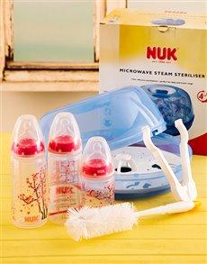 gifts: Baby Girl's Bottle Hamper!
