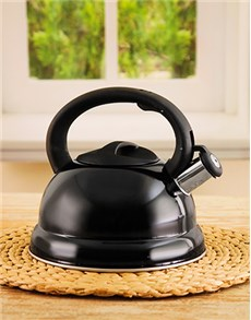 gifts: Black StoveTop Kettle!