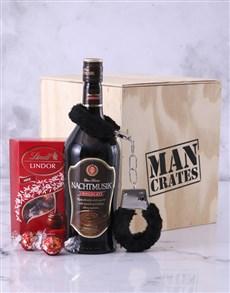 gifts: Chocolate Bondage Man Crate!