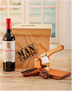gifts: Biltong Cutter & Wine Man Crate!