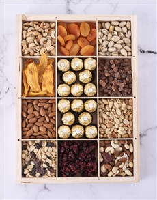 gifts: Crate Filled With Nuts And Fruit!