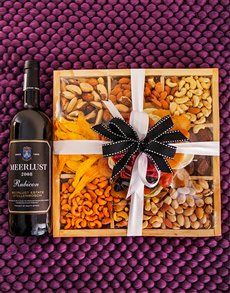 gifts: Meerlust Wine and  Mixed Fruit & Nut Box!