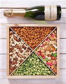 gifts: A Hot Nut Hamper & Graham Beck!