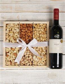 gifts: KWV Merlot Wine & Nut Tray!