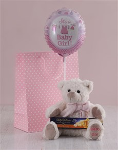 gifts: It's a Girl Teddy and Nougat Gift Hamper!