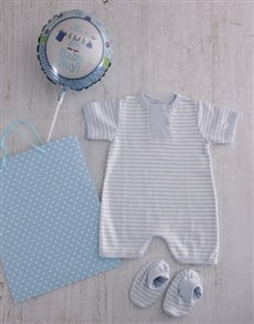 gifts: Baby Boy Baby Grow and Booties Set!