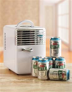 gifts: Desk Fridge with Castle Lite!