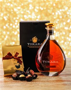 gifts: Tokara 5yr Potstill Brandy with Chocolate!