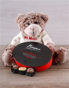 gifts: I Love Mom Teddy and Chocolate Set!