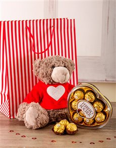 Love You Madly Teddy Gift Set