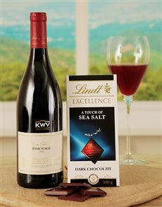 gifts: Salty Sophistication Lindt Chocolate and Wine Duo!