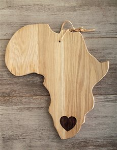gifts: Laid back Weathered Oak Africa Cheese Board!