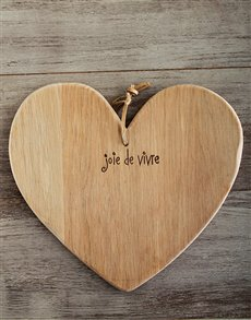 gifts: Laid back Weathered Oak Heart Board!