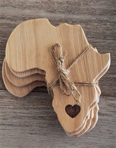 gifts: Laid back Weathered Oak Africa Coasters!