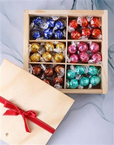 flowers: Lindt Chocolate Treasure Box!